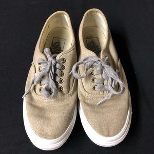 Vans - Low Top - Lace Up - Khaki - Size 6.5